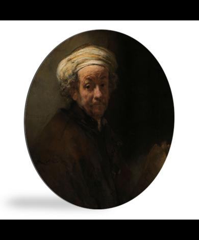 Zelfportret als de apostel Paulus - Schilderij van Rembrandt van Rijn wandcirkel