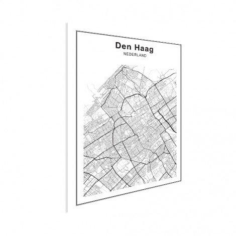 Stadskaart Den Haag zwart-wit poster