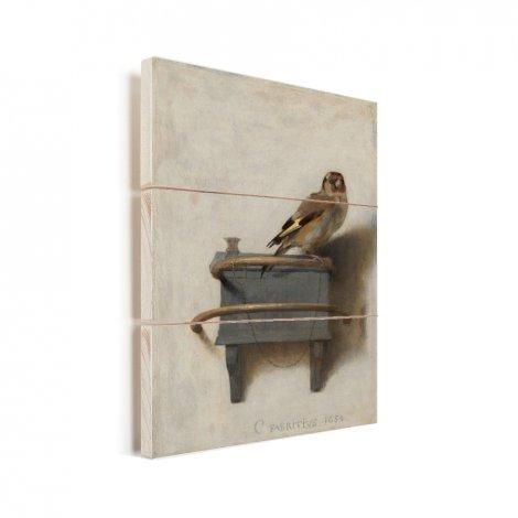 Het puttertje - Schilderij van Carel Fabritius Vurenhout met planken