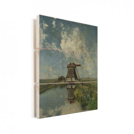 In de maand juli - Schilderij van Paul Joseph Constantin Gabriel Vurenhout met planken