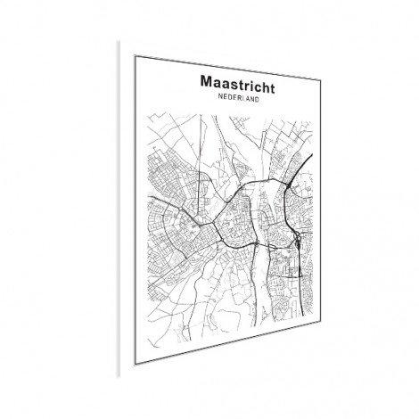 Stadskaart Maastricht zwart-wit poster