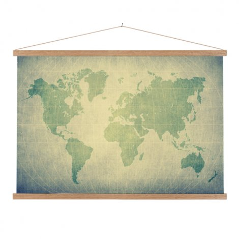 Perkament groen textielposter