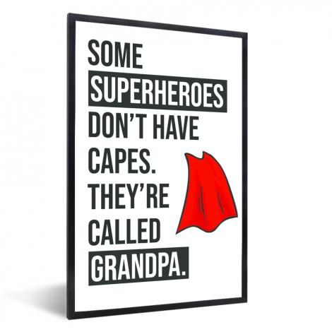 Vaderdag Cadeau Voor Opa Met Tekst Superheroes Fotolijst