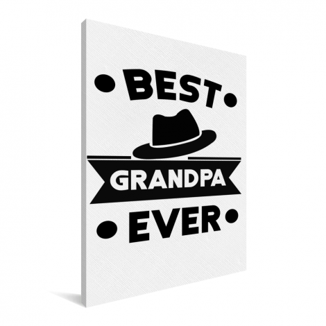 Vaderdag - Best grandpa ever Canvas