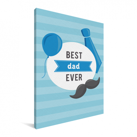 Vaderdag - Best dad ever Canvas