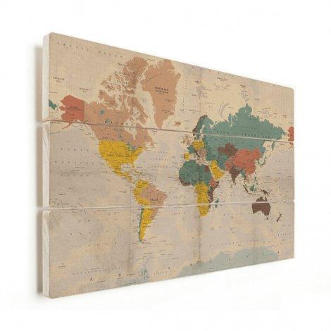 Verkleurd historisch hout