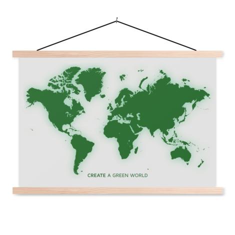Groen textielposter