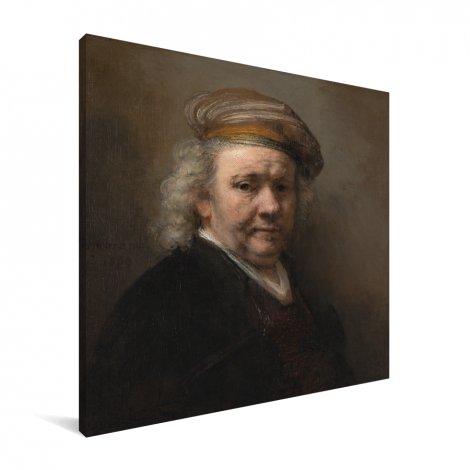 Zelfportret - Schilderij van Rembrandt van Rijn Canvas