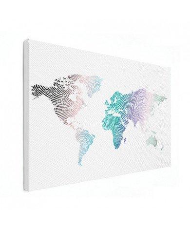 Vingerafdruk - kleur canvas