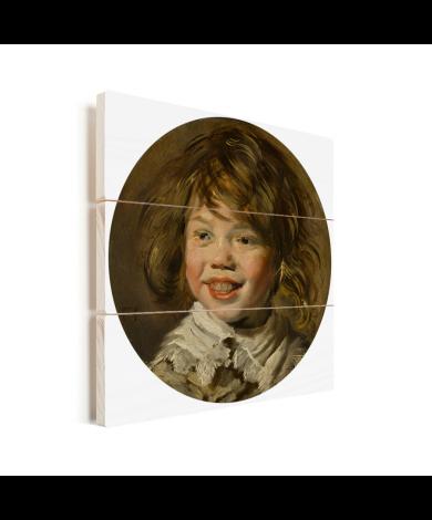Lachende jongen - Schilderij van Frans Hals Vurenhout met planken