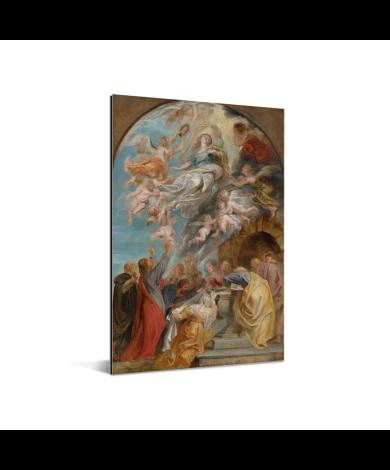 Modello voor de hemelvaart van Maria - Schilderij van Peter Paul Rubens Aluminium