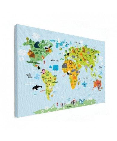Ons dierenrijk - baby canvas