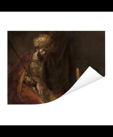 Saul en David - Schilderij van Rembrandt van Rijn Poster