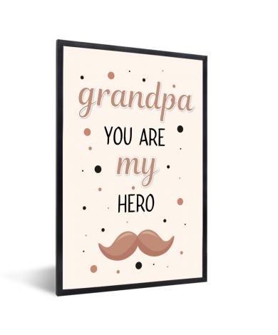 Vaderdag - Grandpa you are my hero - vaderdaggeschenk Fotolijst