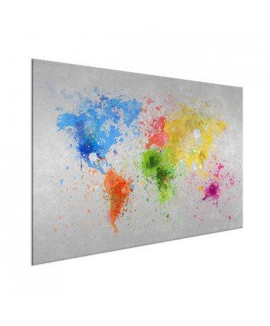 Gekleurde inkt splash aluminium