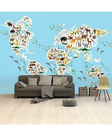 Ons dierenrijk - 2 behang