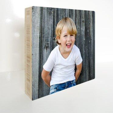 Fotoblok van hout