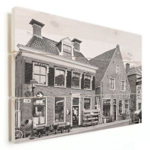 Foto op hout gedrukt offerte