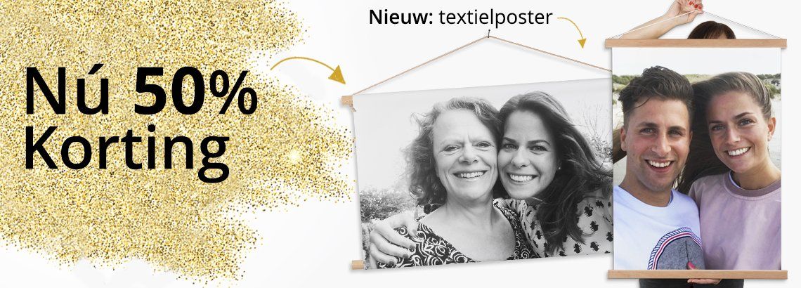 Foto op textielposter feestdagen aanbieding