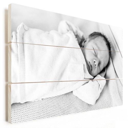 Foto op hout babyfoto