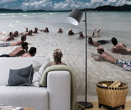 Strandfoto op fotobehang