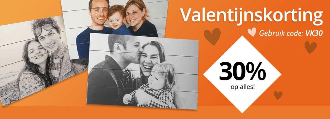 Foto op hout Valentijnskorting