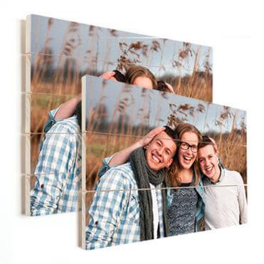 Vele formaten foto op hout