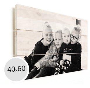 Foto op hout kinderen