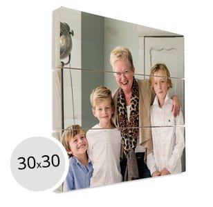 Foto op hout oma kleinkinderen