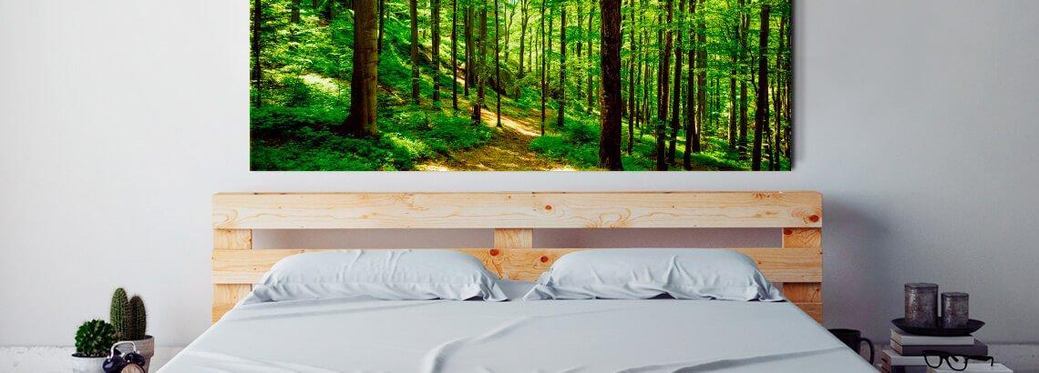 foto op multiplex in slaapkamer