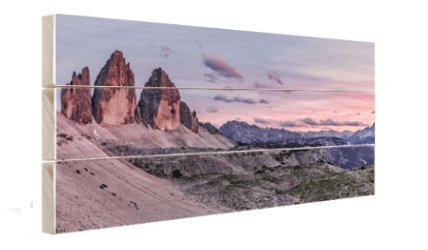 Panorama op hout 120x60