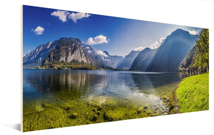 Panoramafoto op hout