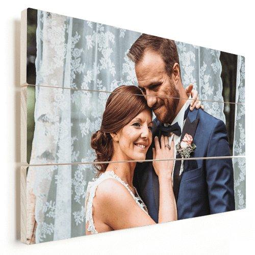 Foto op hout getrouwd