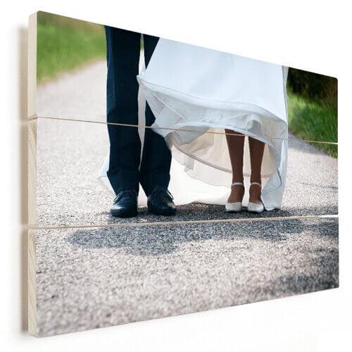 Foto op hout net getrouwd