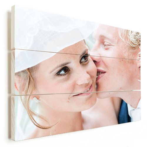 Foto op hout trouwen