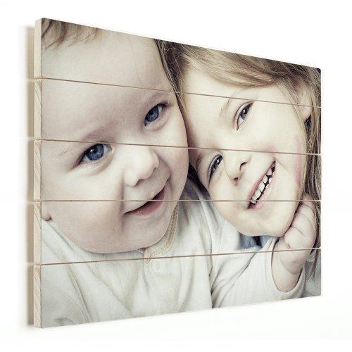 Foto op hout met kinderen