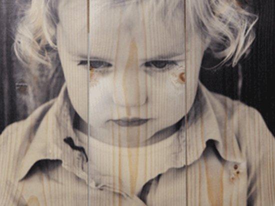 Foto op hout zonder whitewash