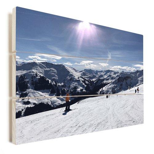 Foto op hout wintersport