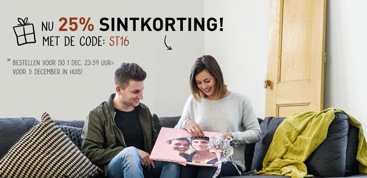 Foto Op Hout Sinterklaas Aanbieding